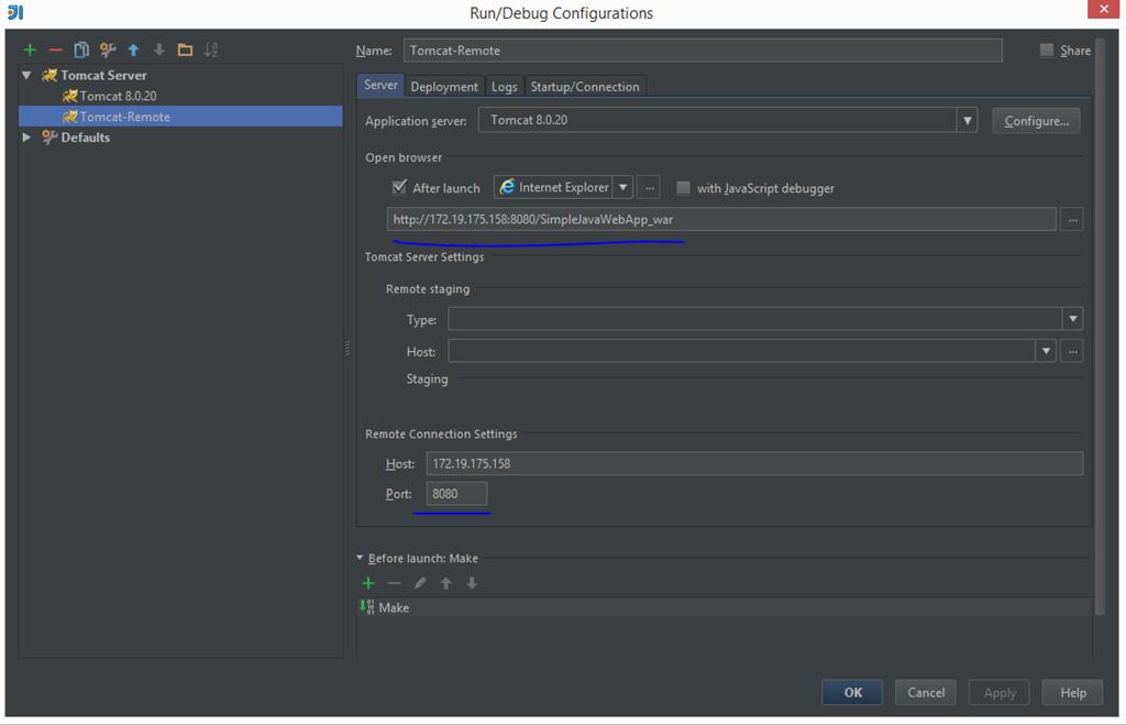 Creating a simple java web app using IntelliJ IDEA and setting up